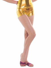 Danshūz Gold Metallic Shorts