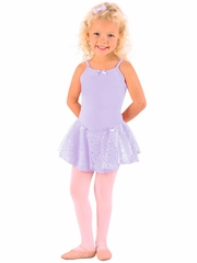Danshūz Lavender Camisole w/ Hologram Skirt Dress