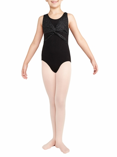 Danskin Black Wrap Top Leotard