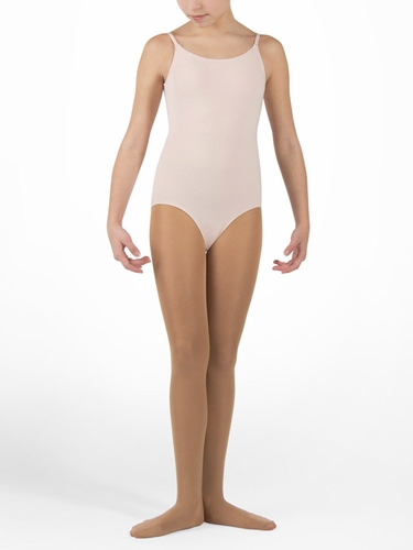 Danskin Dance Basic - Girls Theatrical Pink Camisole Leotard