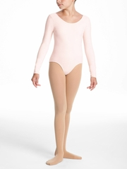 Danskin Dance Basic - Girls Theatrical Pink Long Sleeve Leotard