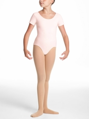 Danskin Dance Basic - Girl's Theatrical Pink Short Sleeve Leotard