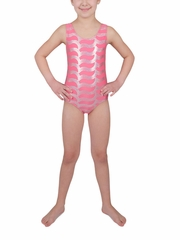 Danskin Girls Camellia Rose Sparkle Gymnastics Leotard