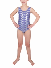 Danskin Girls Dusted Periwinkle Sparkle Gymnastics Leotard
