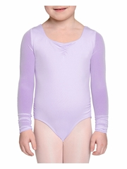 Danskin NYCB Girls Lavender Mesh Sleeve Leotard