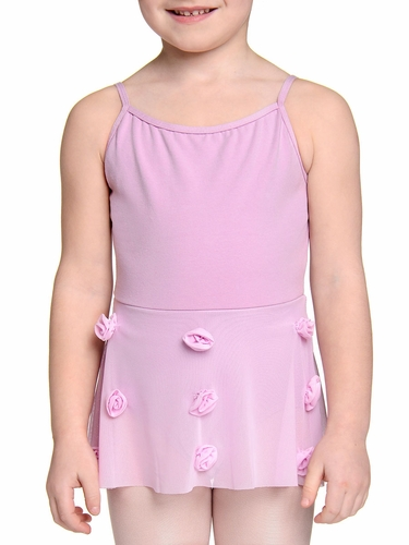 Danskin Girls Lavender Mesh Flower Leotard