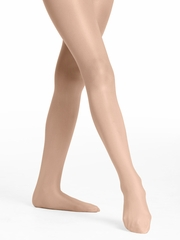 Danskin Girls Light Toast Ultra Shimmery Footed Tights