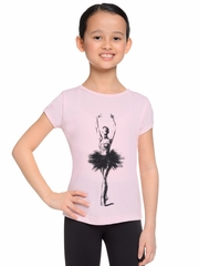 Danskin Girls Pink Short Sleeve Graphic T-Shirt