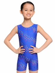 Danskin Gymnastics Royal Star Print Shortall
