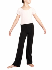 Danskin Rich Black Seamed Dance Pant