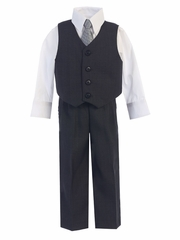 Dark Gray Vest & Pant Set