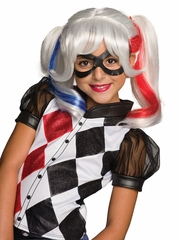 DC Super Hero Girls Harley Quinn Wig