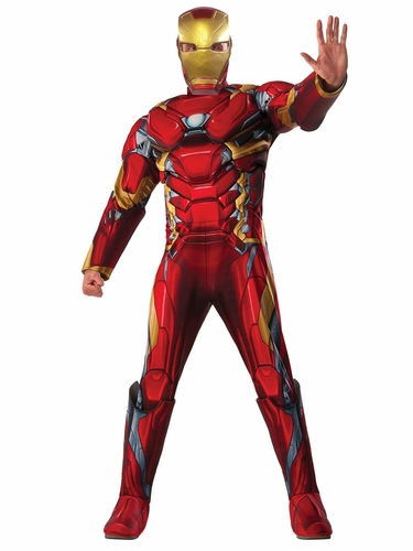 Deluxe Muscle Chest Adult Iron Man Costume