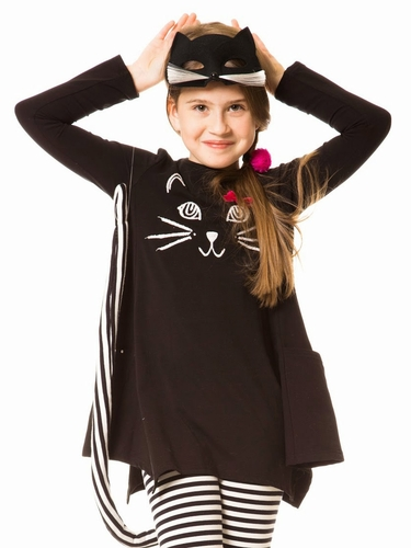 Deux Par Deux Anthracite Cat Tunic