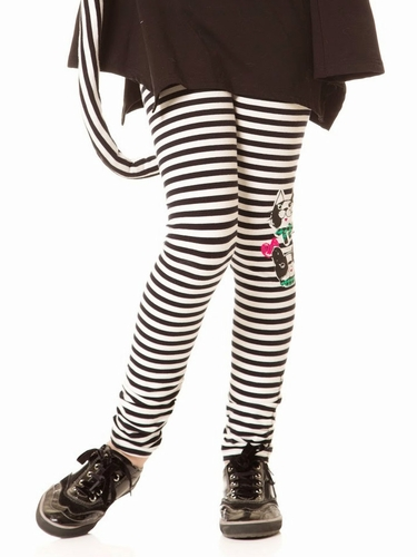 Deux Par Deux Cats & Dogs Striped Leggings
