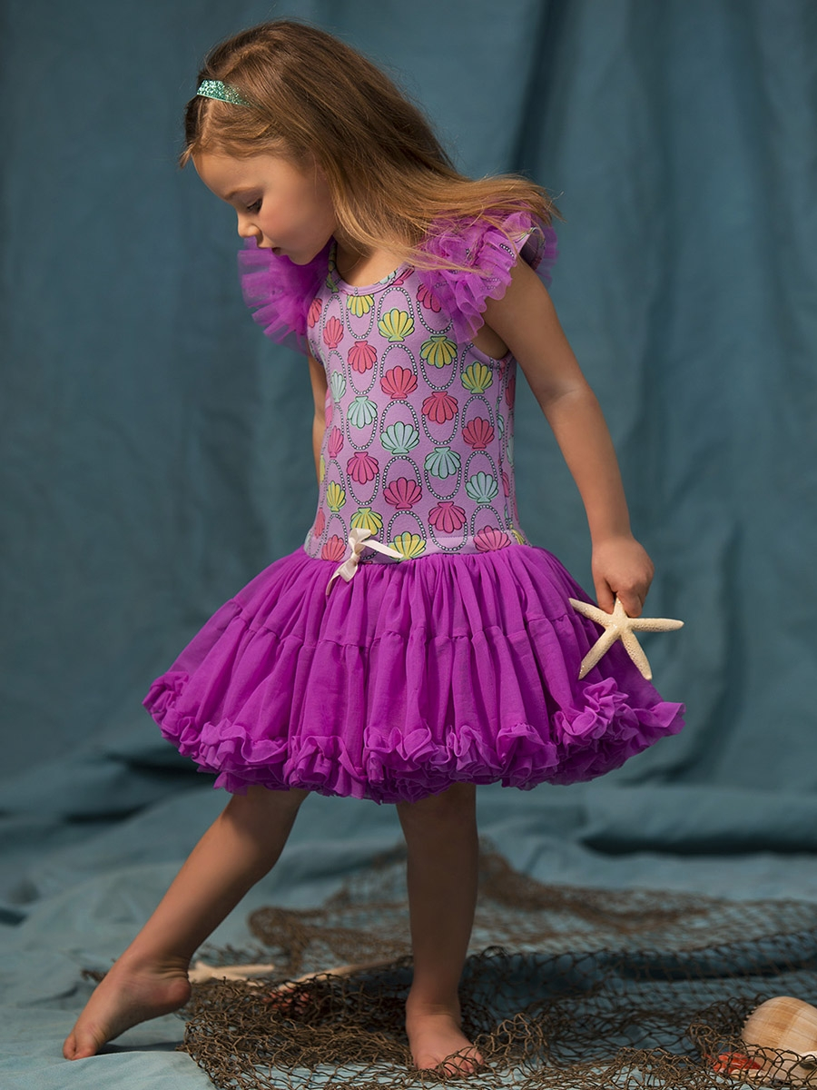 a24664ac64 Disney Collection by Tutu Couture Ariel Ruffle Sleeve Petti Dress