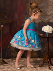 Disney Collection by Tutu Couture Beauty & The Beast Belle Chambray Romantic Tutu Dress