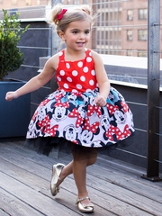 Disney Collection by Tutu Couture Minnie Mouse Poplin Tutu Dress