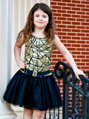 Dolls & Divas Black & Gold Erica Dress
