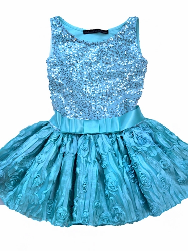 Dolls & Divas Couture Aqua Esther Dress
