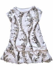 FLASH SALE: Dolls & Divas Couture Tyler White Lace Sequins Dress