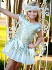 Dolls & Divas Gold & Ivory Sequin Chloe Dress