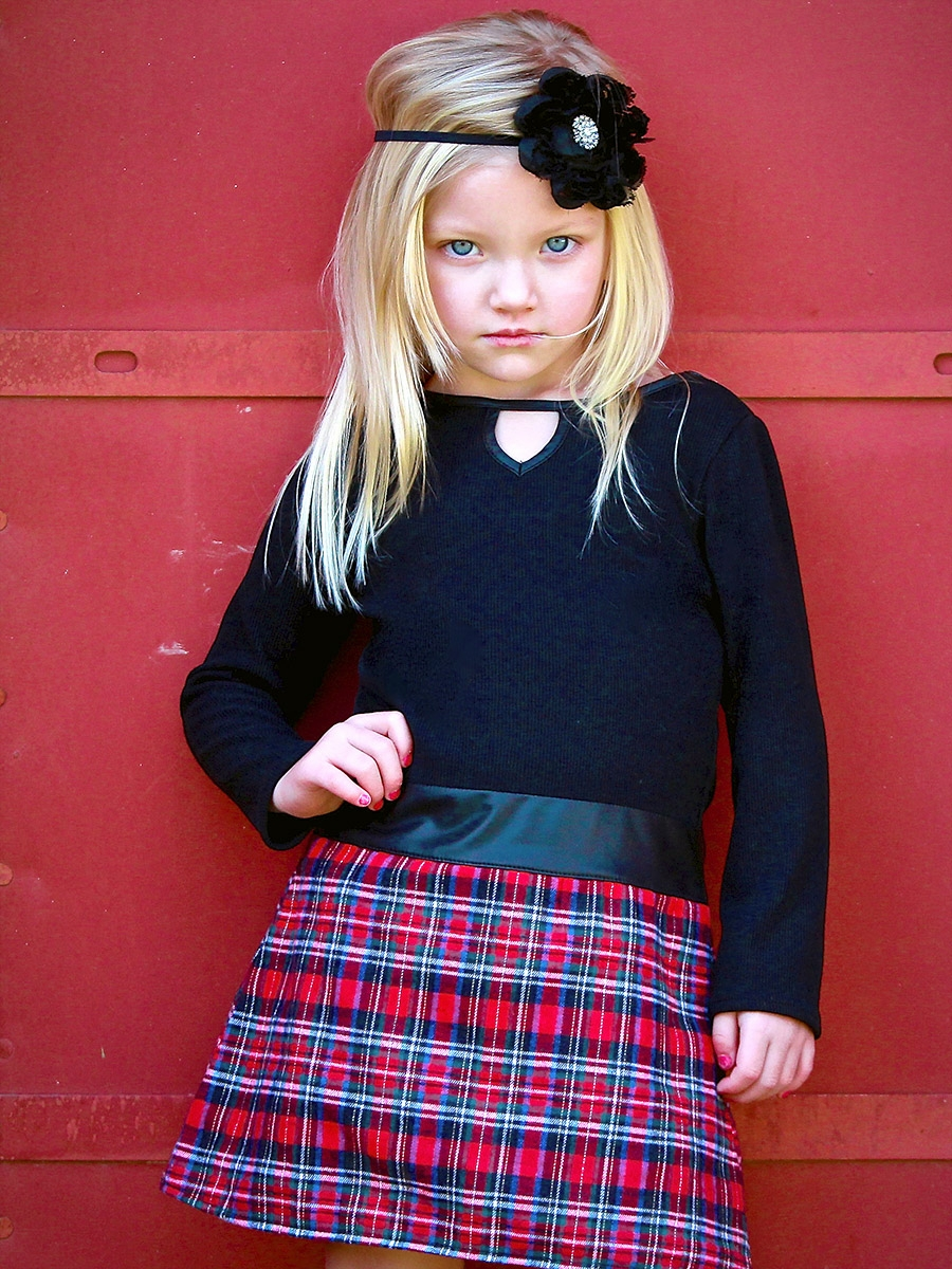Dolls Amp Divas Keyhole Black Amp Plaid Hadely Dress