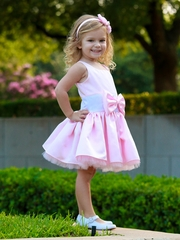 Dolls & Divas Pink Satin Austin Party Dress
