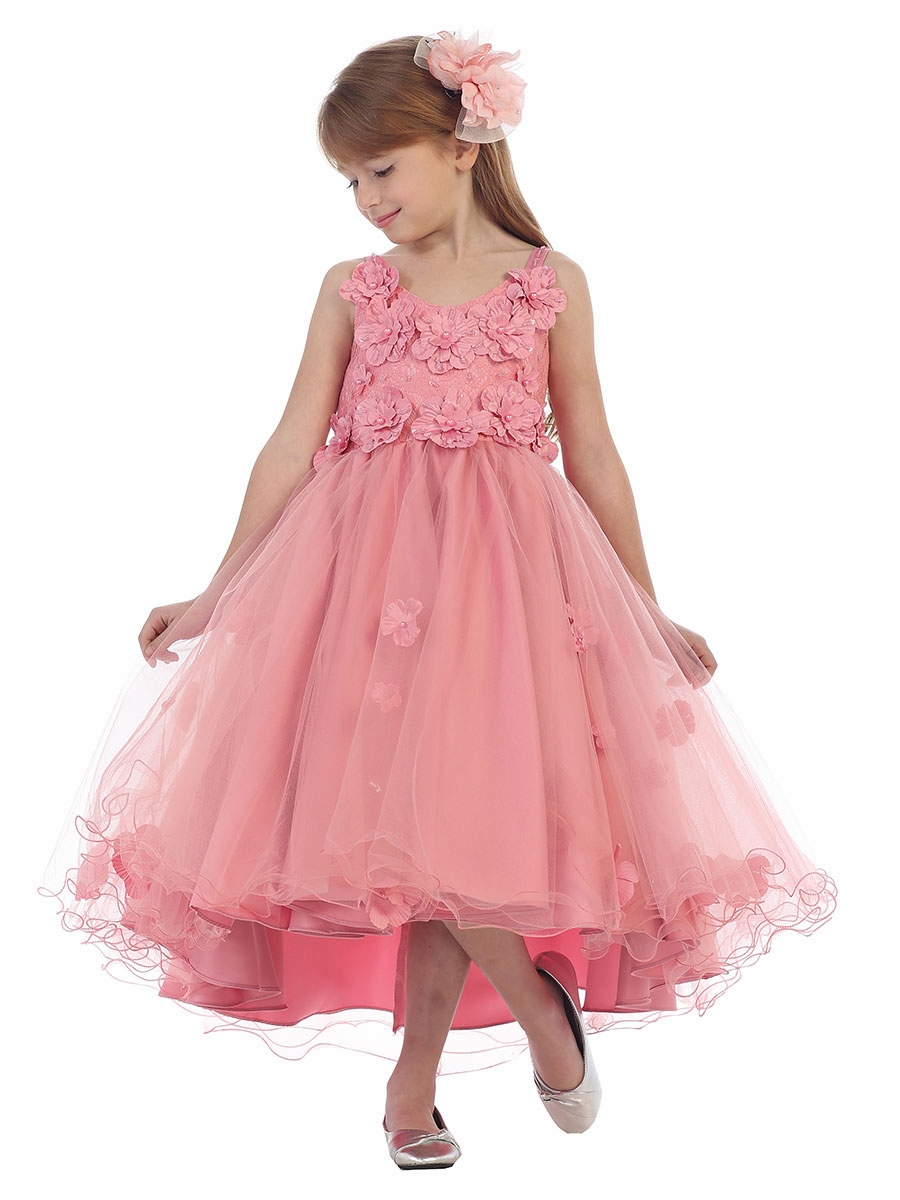 e8ae313498d67 ... Dusty Rose Floral & Lace Tulle Dress w/ Bolero. Click to Enlarge Click  to Enlarge Click to Enlarge