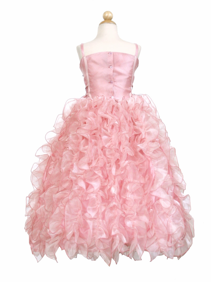 Ruffled Organza Skirt With Embroidered And Beaded Bodice