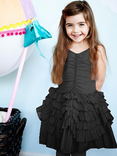Eliane et Lena Pradette Black Ruffle Dress