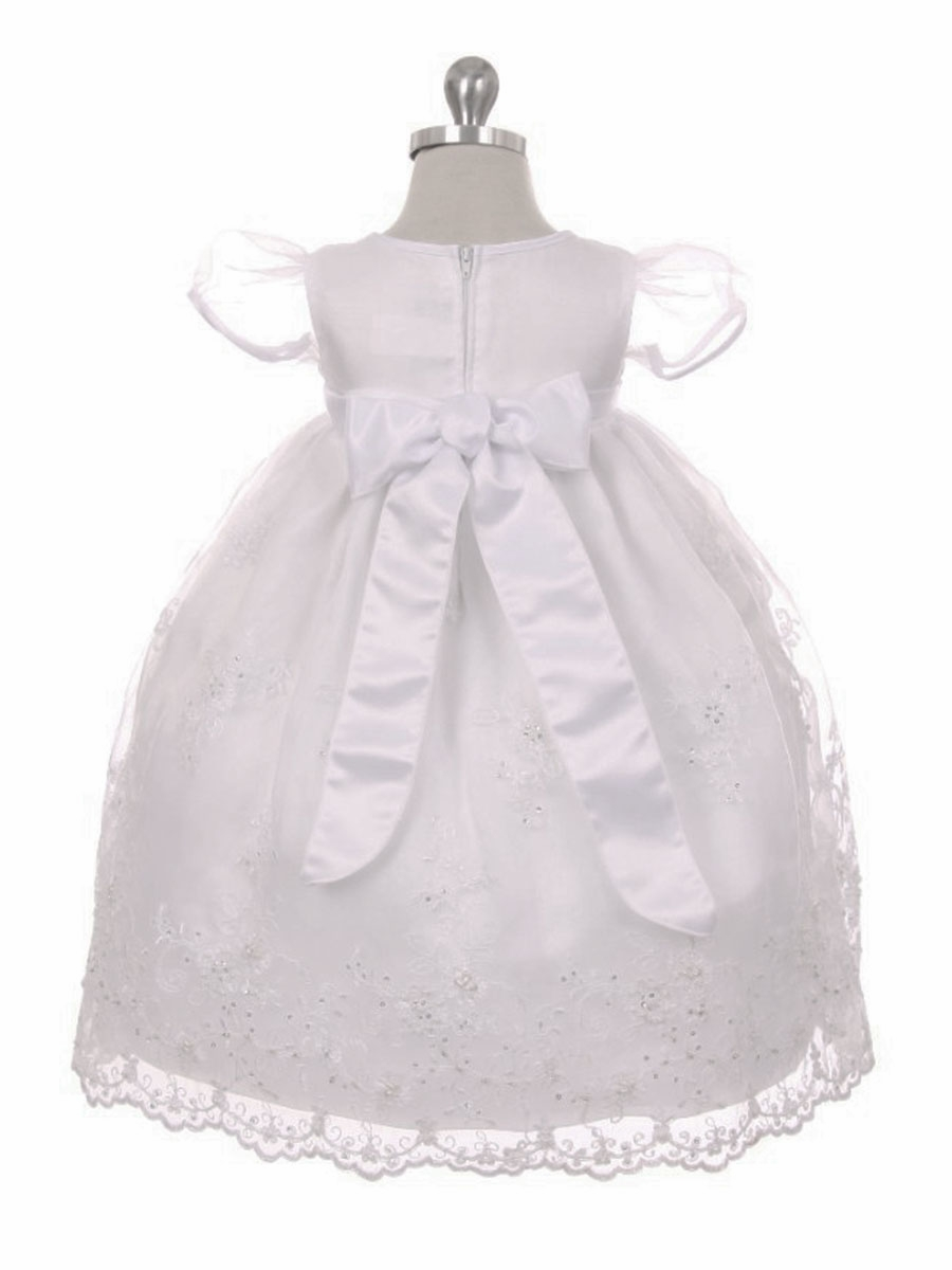 3d6f5bbbe3a ... Organza Christening Gown w  Sequins   Pearls. Click to Enlarge Click to  Enlarge ...