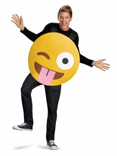 Emoticons Tongue Out Adult Costume