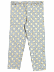 Everbloom Gray & Gold Leggings