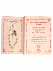 First Communion Bracelet w/ Cross and Chalic