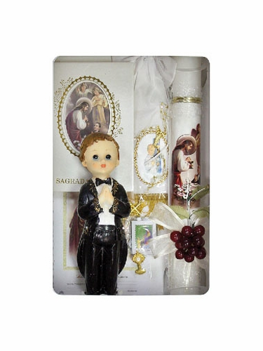 Fist Holy Communion Boy's Spanish Candle Set