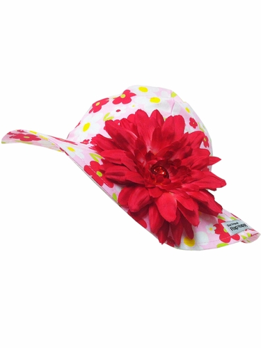 Flap Happy Country Floppy Hat w/ Removable Flower