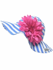Flap Happy Sailor Floppy Hat w/ Removable Flower
