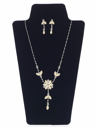 Floral Necklace Set w/ Earrings