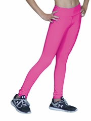 Fuchsia ChloeNoel Skinny Yoga Off Ice Elite Pant w/ Front Pocket & Swarovski Crystal Block