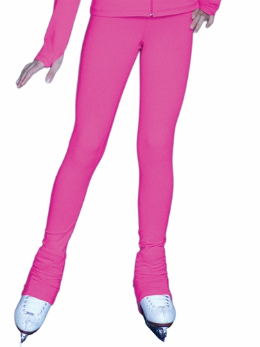 Fuchsia ChloeNoel Solid Color Over The Heel Elite Skating Pants w/ Front Pocket