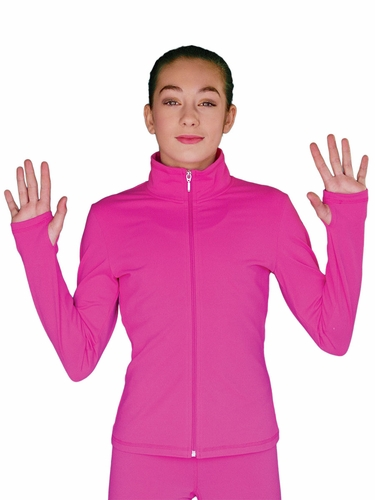 Fuchsia ChloeNoel Solid Fleece Jacket w/ Thumb Holes
