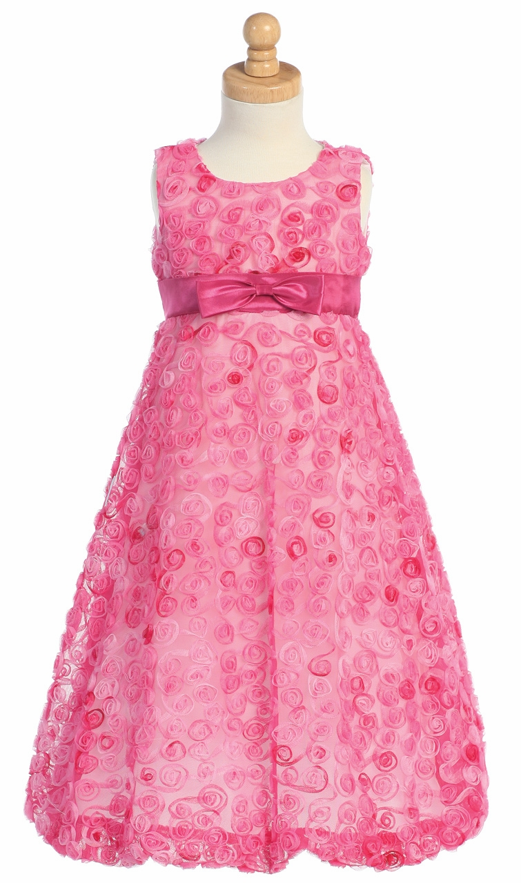 72172d4f516 ... Flower Girl Dresses   Fuchsia Embroidered Tulle A-line Dress. Click to  Enlarge ...