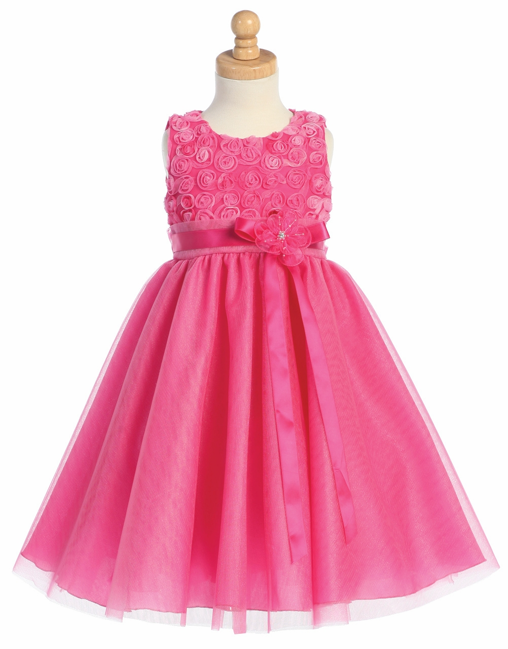 f2eddf4b2f6 ... Dresses   Fuchsia Embroidered Tulle Bodice w Tulle Skirt. Click to  Enlarge ...