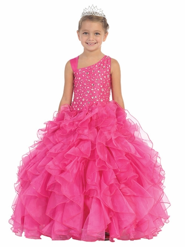 Fuchsia Jewels & Gents Pageant Dress