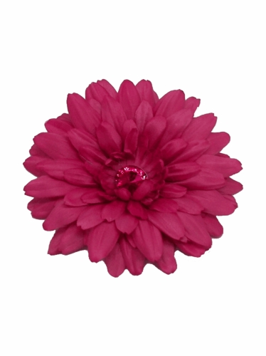 Fuchsia Large Gerber Daisy Flower on Clip