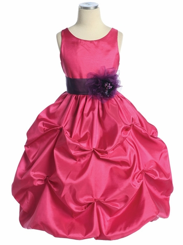 Fuchsia/Purple Taffeta Bubble Pick Up Dress