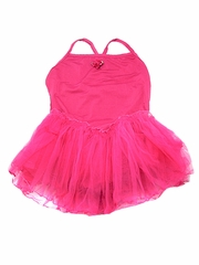 Fuchsia Spaghetti Strap Tutu Dress