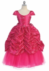 1328e2a18 Fuchsia Flower Girl Dresses - PinkPrincess.com