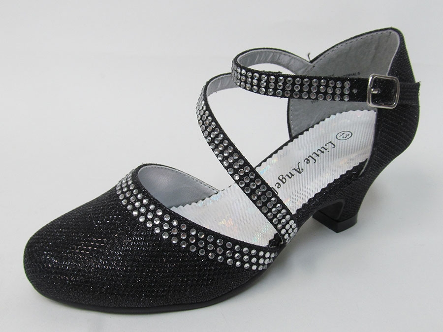 dc83fb5b87a0 ... Low Heel Glitter   Rhinestone Shoe. Click to Enlarge